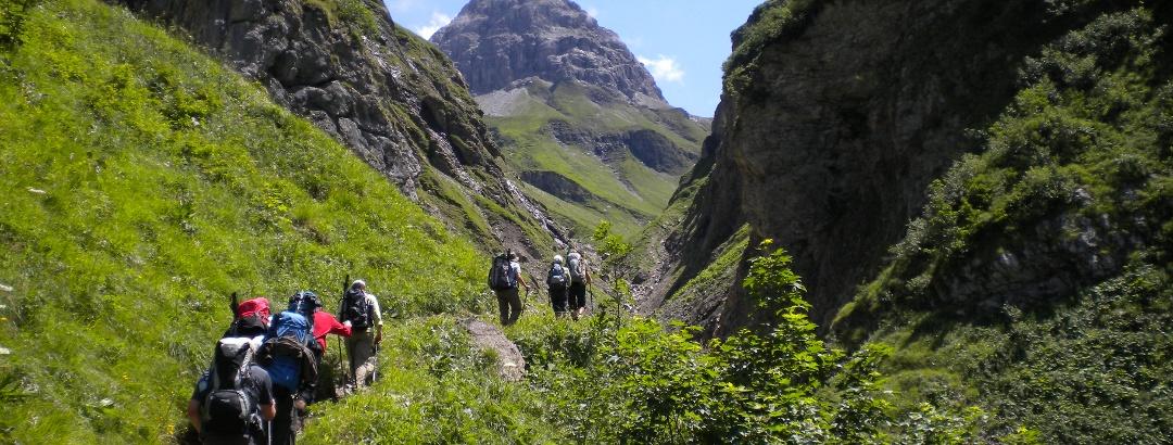 Long-distance hiking trail E5 from Oberstdorf to Meran