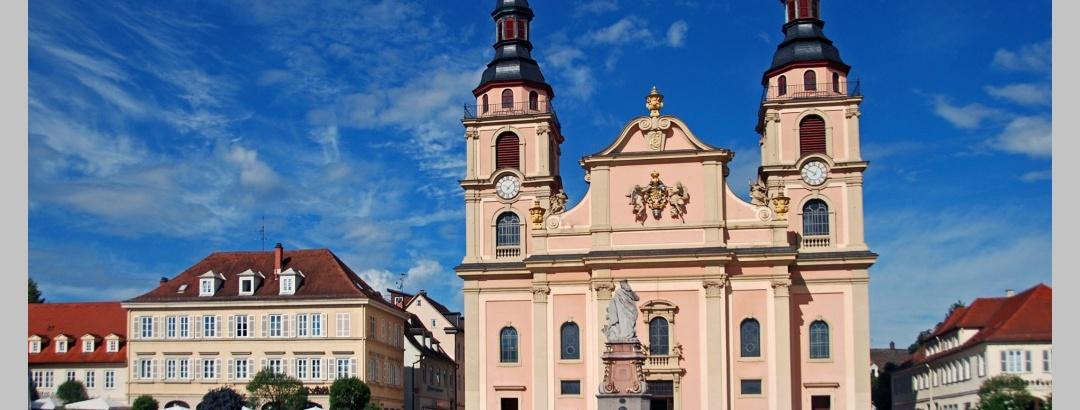 Auf dem Ludwigsburger Marktplatz