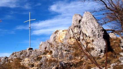 Turmsteinkreuz 1416 m beim Abstieg