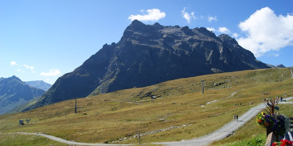 Gargellen Panoramablick vom Schafberghüsli