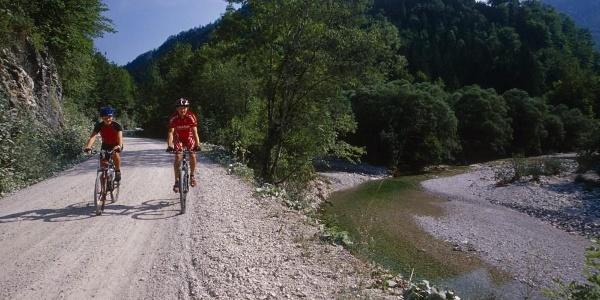 Unser Weg führt immer dem Großen Bach entlang ins Hintergebirge