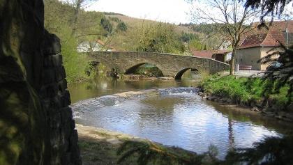 Lauterecken Roseninsel und Lauterbrücke
