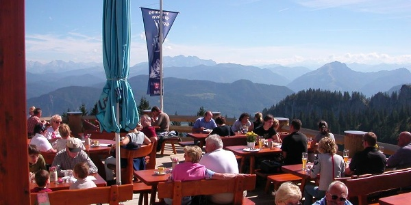 An der Bergstation der Kampenwandseilbahn.