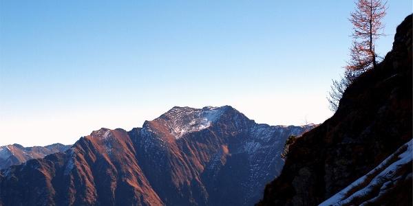 Kaltherbergalm 1.608m mit Blick zum Deneck