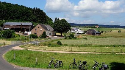 Blick auf die Siedlung Eltzenberger Mühle