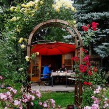 Schlussrast im Garten