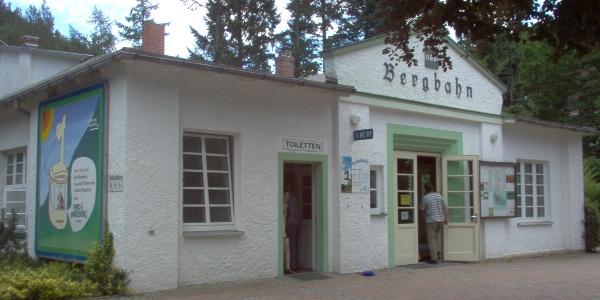 Die Bergbahnstation.