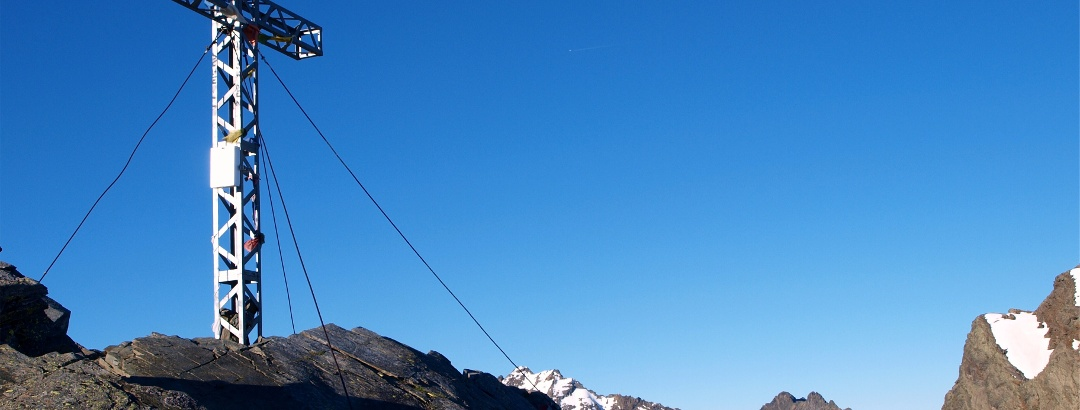 Gipfelkreuz Schöntalspitz 3008m