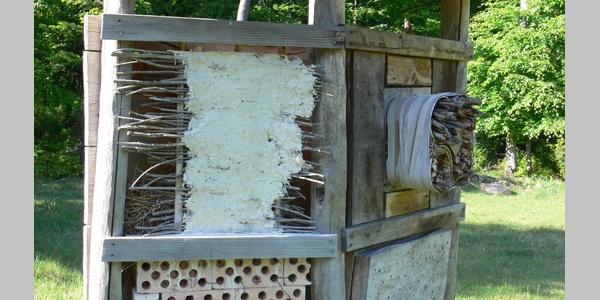 Das Insektenheim am Waldlehrpfad Taubensuhl bietet vielen kleinen Lebewesen ein Dach über dem Kopf.