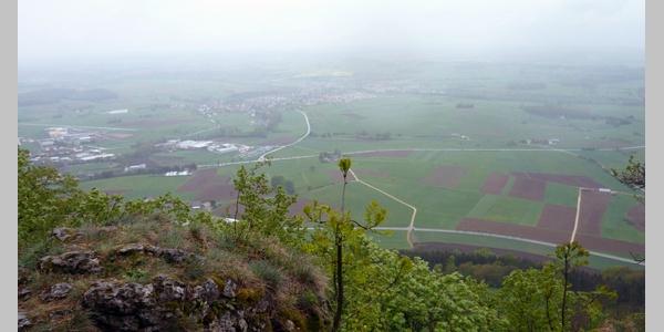 Die Aussicht vom Rosenstein ist beeindruckend.