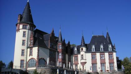 Der Baustil von Schloss Klink erinnert an die Schlösser der Loire.