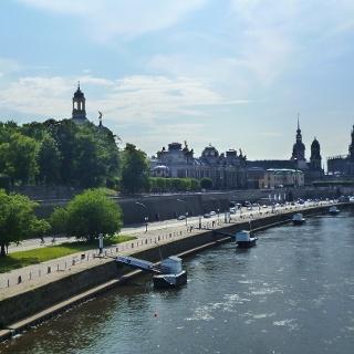 Weitblick auf die Altstadt in Dresden