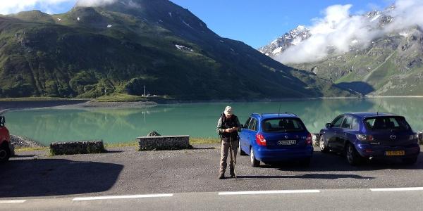 Silvrettasee von der Bieler Höhe aus gesehen