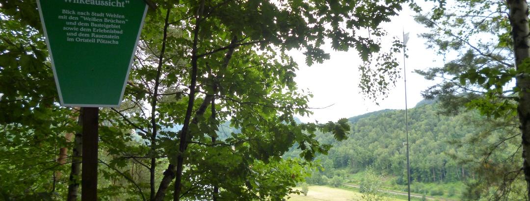 Der Aussichtspunkt bei der Stadt Wehlen - die Winkeaussicht