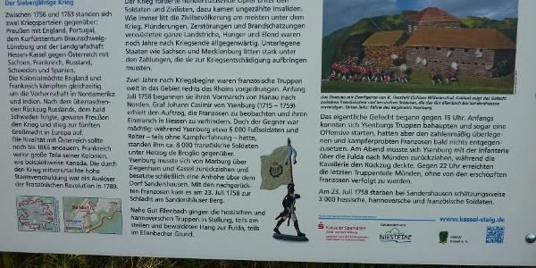 Info-Tafel zur Schlacht bei Sandershausen