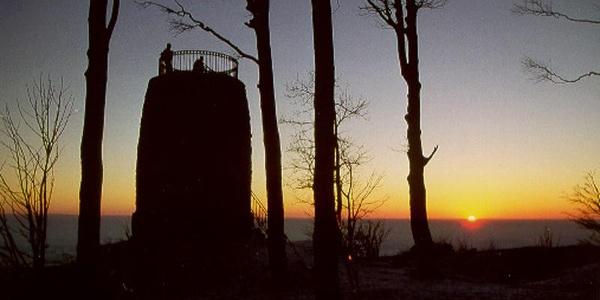 Der Aussichtsturm bietet einen phantastischen Ausblick.