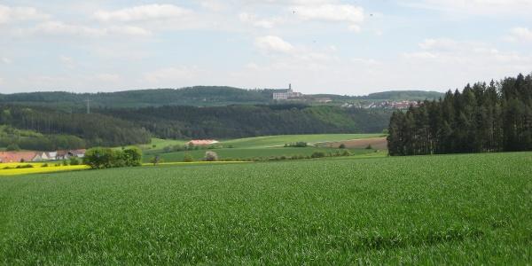 Herrlicher Blick auf Kloster Neresheim