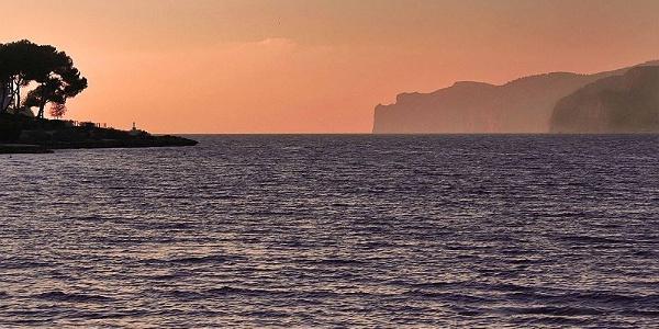 Breathtaking sight of the sea