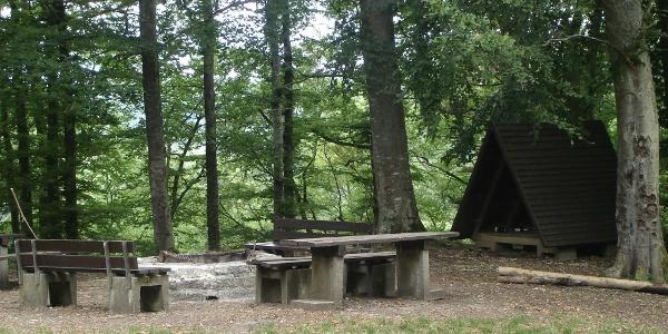 Grillplatz bei der Ruine Falkenstein