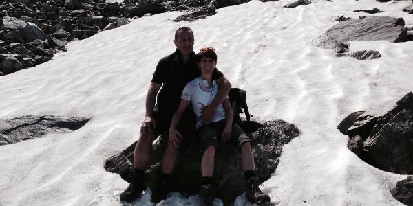 Kurz vor der Hütte im Schnee