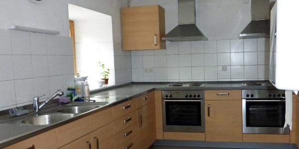 Die geräumige Kochküche