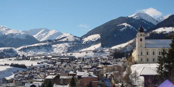 Dorfbild Disentis mit Kloster