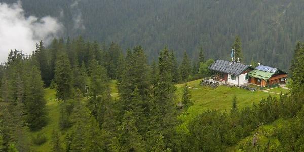 Die kleine Hochlandhütte - Ziel der ersten Etappe