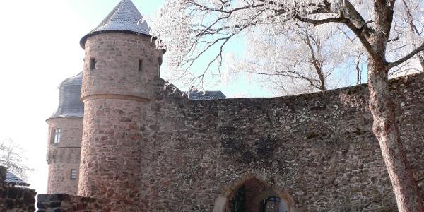 Durch dieses Tor gelangt man ins Innere der Burg Lichtenberg.