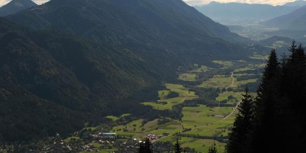 Aussicht von der Weißbriacher Hütte