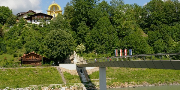 Europasteg von Laufen (Deutschland) nach Oberndorf (Österreich)