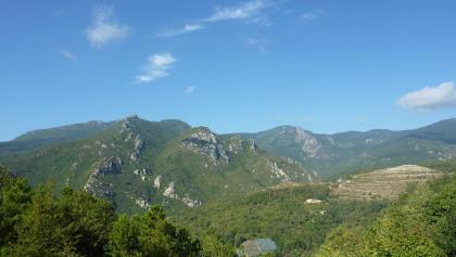 Ausblick auf dem Ligurischen Höhenweg