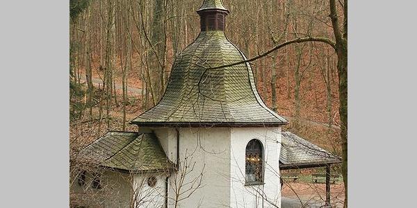 Die Kapelle bei der Ruine Waldenburg.