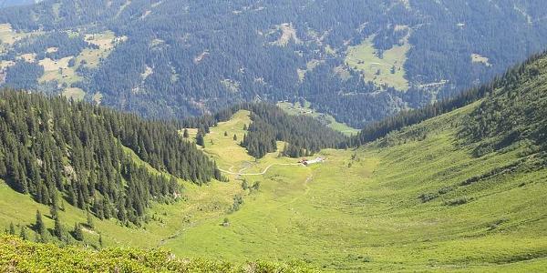 Blick zur Alpe Innerkapell