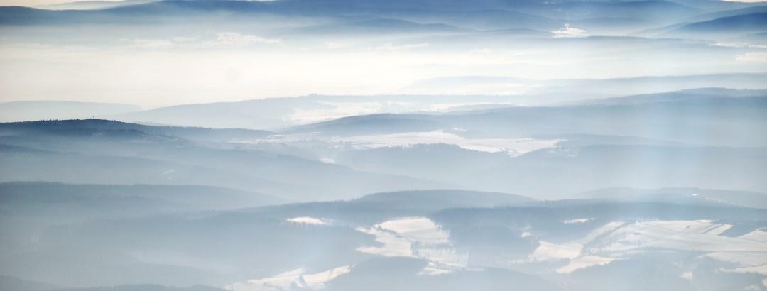 Der Feldberg bei Nebel.