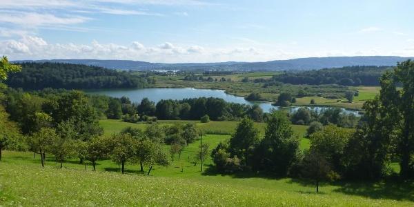 Zwei-Seen-Blick mit Mindelsee und Zeller See