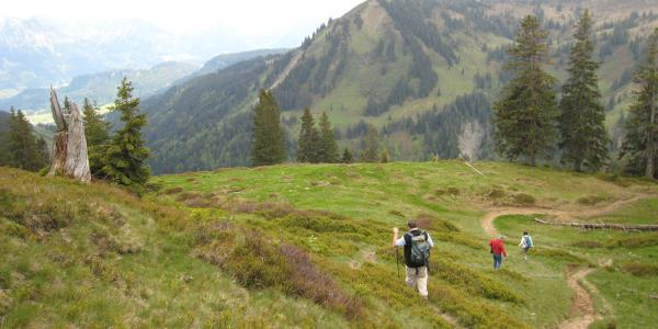 Blick v. Ochsenkopf zur Bergstation