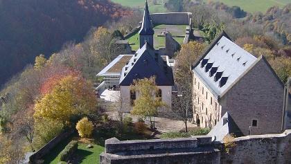 Blick von der Burg Lichtenberg ins Kuseler Musikantenland.