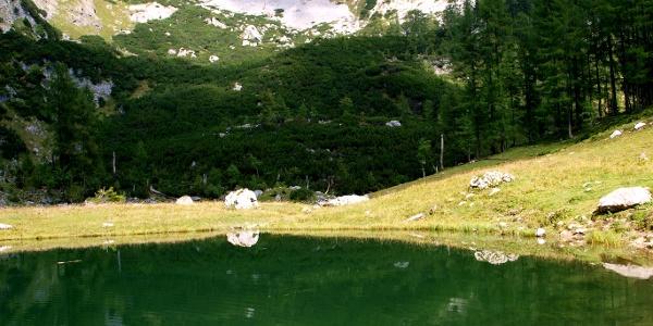 Spiegelung im Brunnsteiner See 1422m