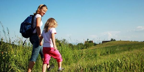 Wanderin mit Kind