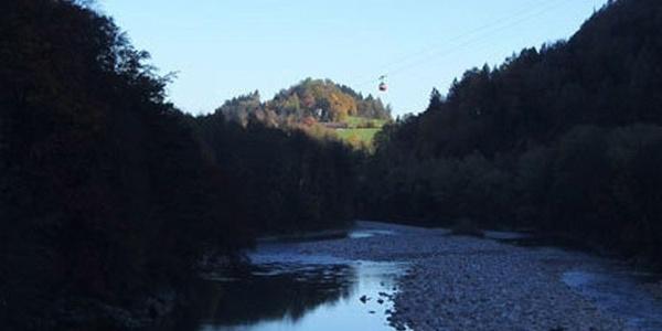 Blick vom Saalachwehr.