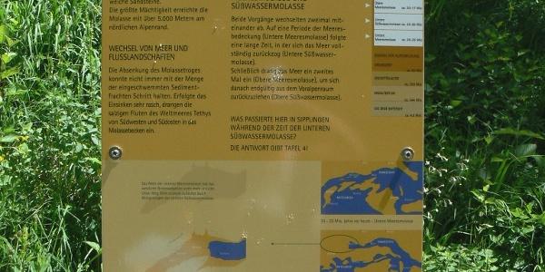 Eine Informationstafel des Geologischen Lehrpfads.