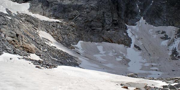 die Gletscherpassage vor der Lassacher Winkelscharte