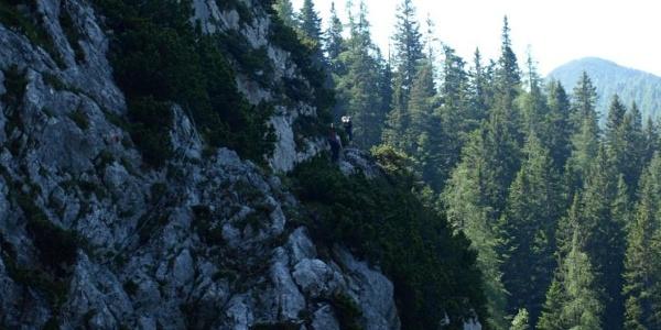 erster Rückblick am Zirler Schützensteig nach Verlassen des Waldes