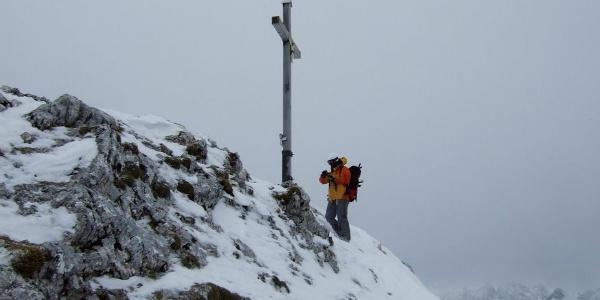 Auf dem Gipfel der Hochplatte.