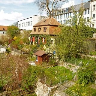 Die Terrassengärten in Wunsiedel.