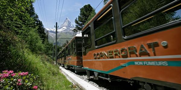 Fahrt mit der Gornergrat Bahn zum Ausgangspunkt der Wanderung