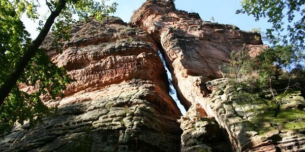 Felsmassiv Fladensteine