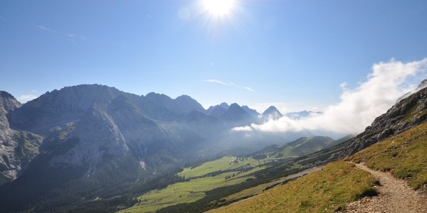 Impressions on the descent over the Gatterl to Ehrwald