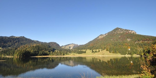 Herbstimpressionen am nahegelegenen Spitzingsee