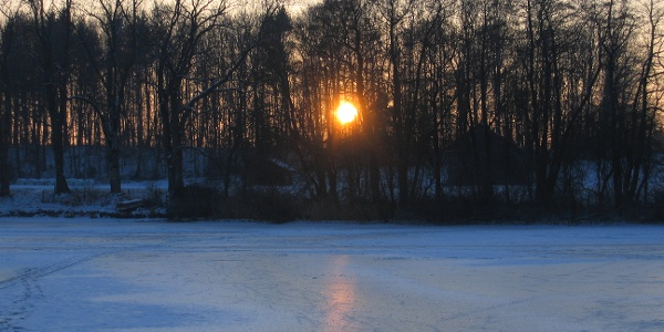 Abtsee Winter abends